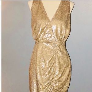 The Jetset Diaries gold dress. New. Small